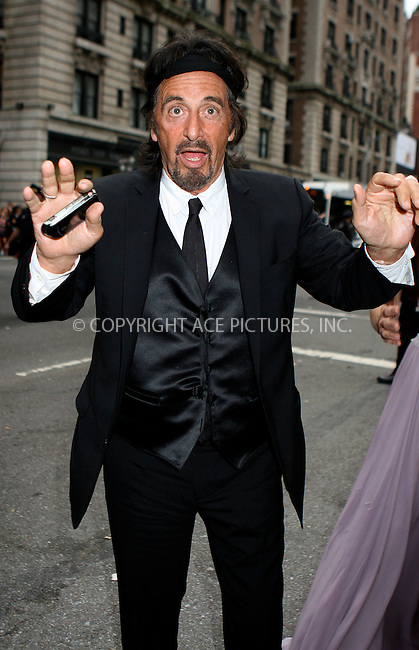 WWW.ACEPIXS.COM . . . . .  ....June 12 2011, New York City....Al Pacino arriving at the 65th Annual Tony Awards at the Beacon Theatre on June 12, 2011 in New York City.....Please byline: NANCY RIVERA- ACEPIXS.COM.... *** ***..Ace Pictures, Inc:  ..Tel: 646 769 0430..e-mail: info@acepixs.com..web: http://www.acepixs.com