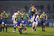 9th December 2017, AJ Bell Stadium, Salford, England; European Rugby Challenge Cup, Sale Sharks versus Cardiff Blues; Cardiff Blues' Gareth Anscombe catches the ball