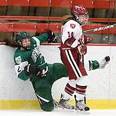 Margaux Sharp (Dartmouth - 2), Jillian Dempsey (Harvard - 14) - The visiting Dartmouth College Big Green defeated the Harvard University Crimson 3-2 on Wednesday, November 23, 2011, at Bright Hockey Center in Cambridge, Massachusetts.
