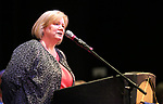 Nancy Olsen, Adult Education Program Supervisor, speaks to the crowd as more than 100 students received their High School Equivalency during a Western Nevada College ceremony in Carson City, Nev., on Monday, June 19, 2017. <br />Photo by Cathleen Allison/Nevada Photo Source