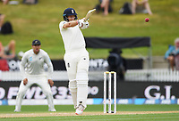 2nd December, Hamilton, New Zealand; England's Joe Root hits out on day 4 of the 2nd test cricket match between New Zealand and England  at Seddon Park, Hamilton, New Zealand.