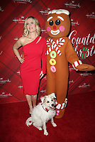LOS ANGELES, CA - DECEMBER 4: Alison Sweeney, Happy the Dog, Gingerbread man figure, at Screening Of Hallmark Channel's 'Christmas At Holly Lodge' at The Grove in Los Angeles, California on December 4, 2017. Credit: Faye Sadou/MediaPunch /NortePhoto.com NORTEPHOTOMEXICO