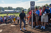 Tiger Woods (USA) heads to 12 during 1st round of the 100th PGA Championship at Bellerive Country Cllub, St. Louis, Missouri. 8/9/2018.<br /> Picture: Golffile | Ken Murray<br /> <br /> All photo usage must carry mandatory copyright credit (© Golffile | Ken Murray)