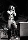 URIAH HEEP - vocalist John Lawton - performing live at The Rainbow Theatre in London UK - 06 Mar 1977.  Photo credit: George Bodnar Archive/IconicPix