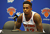 Lance Thomas of the New York Knicks fields questions during the team's Media Day held at Madison Square Garden Training Center in Greenburgh, NY on Monday, Sept. 24, 2018.