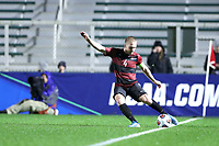 CARY, NC - DECEMBER 13: Derek Waldeck #4 of Stanford University plays the ball during a game between Stanford and Georgetown at Sahlen's Stadium at WakeMed Soccer Park on December 13, 2019 in Cary, North Carolina.