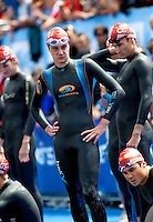 11 JUL 2009 - KITZBUHEL, AUT - Alistair Brownlee waits for the start of the ITU World Championship Series Mens Triathlon.(PHOTO (C) NIGEL FARROW)