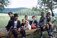 Rural farm family in Northern Romania, 1986