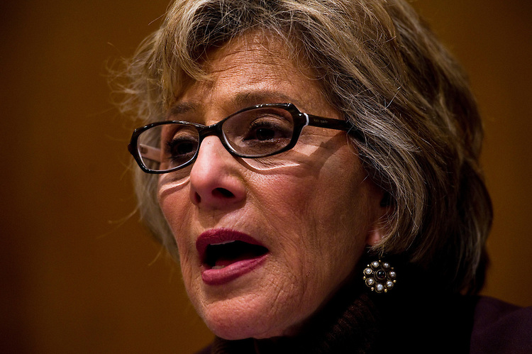 WASHINGTON, DC - March 16: Chairwoman Barbara Boxer, D-Calif., during the Senate Environment and Public Works hearing with Nuclear Regulatory Commission Chairman Gregory B. Jaczko on the unfolding crisis at Japan's Fukushima Daiichi nuclear plant in the wake of the March 11 earthquake and tsunami, and potential ramifications for U.S. nuclear power production. (Photo by Scott J. Ferrell/Congressional Quarterly)