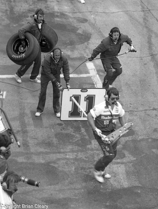 Terry Labonte pits pit stop Daytona 500 at Daytona International Speedway on February 19, 1989.  (Photo by Brian Cleary/www.bcpix.xom)