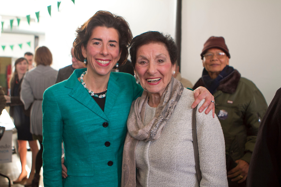 Rhode Island General Treasurer Gina Raimondo, holds a rally in Pawtucket, RI on Monday, January 13, 2014, to formally announce the kickoff of her campaign for Governor.