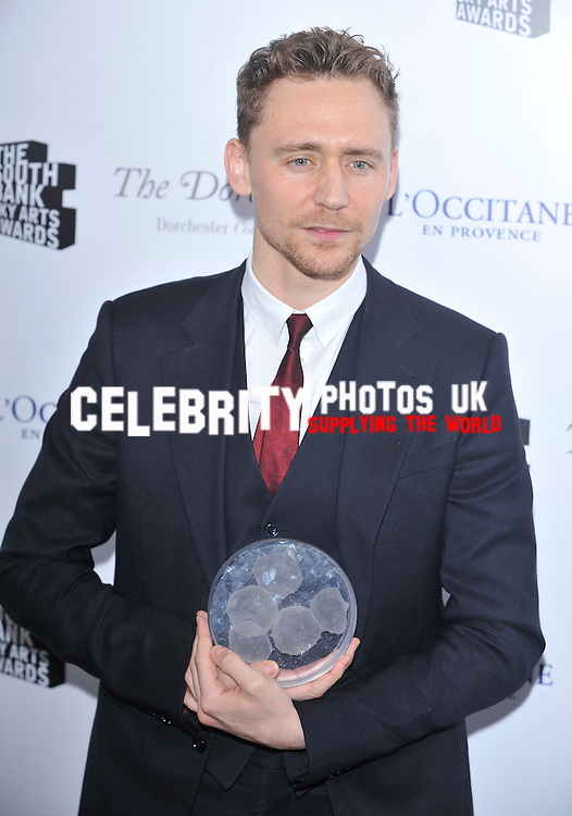 ..Tom Hiddleston  attends the South Bank Sky Arts Awards  at The Dorcheste london March 12, 2013