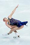 Jenna Mccorkell of Great Britain compete in the Figure Skating Team Ice Dance Short Program during the 2014 Sochi Olympic Winter Games at Iceberg Skating Palace on February 8, 2014 in Sochi, Russia. Photo by Victor Fraile / Power Sport Images