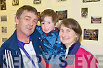 Enjoying the open evening in Abbeyfeale Vocational School to celebrate its 60th and final year were past pupils Tommy Woulfe and Ann O'Halloran with their son Joshua.