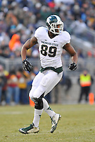 29 November 2014:  Michigan State DE Shilique Calhoun (89). The Michigan State Spartans defeated the Penn State Nittany Lions 34-10 at Beaver Stadium in State College, PA.