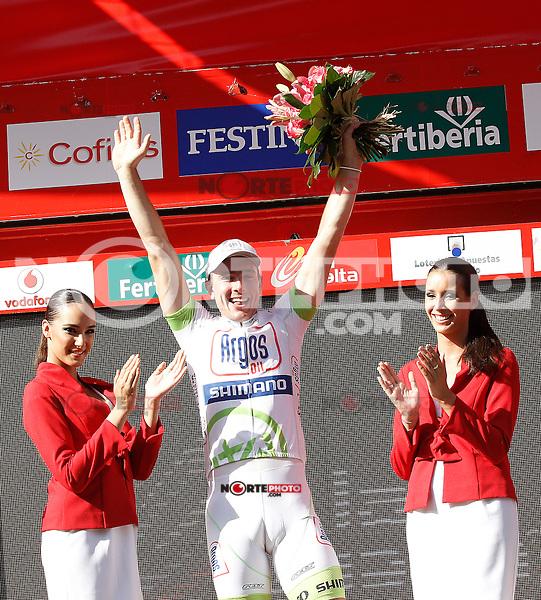 John Degenkolb celebrates the victory in the stage of La Vuelta 2012 between Logroño and Logroño.August 22,2012. (ALTERPHOTOS/Acero) /NortePhoto.com<br /> <br /> **SOLO*VENTA*EN*MEXICO**<br /> **CREDITO*OBLIGATORIO**<br /> *No*Venta*A*Terceros*<br /> *No*Sale*So*third*<br /> *** No Se Permite Hacer Archivo**<br /> *No*Sale*So*third*