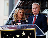 LOS ANGELES - NOV 24:  Vanna White, Pat Sajak at the Harry Friedman Star Ceremony on the Hollywood Walk of Fame on November 24, 2019 in Los Angeles, CA