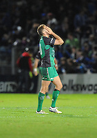 26th October 2013; Dan Parks, Connacht, at the end of the game. Rabodirect Pro12, Leinster v Connacht, Royal Dublin Society, Dublin. Picture credit: Tommy Grealy/actionshots.ie.