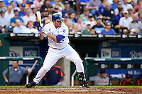 Royals first baseman Mike Sweeney in action against the Detroit Tigers at Kauffman Stadium in Kansas City, Missouri on May 5, 2007.