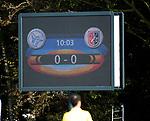 AMSTELVEEN - scorebord.  . Hoofdklasse competitie heren. Pinoke-SCHC (0-1) . COPYRIGHT  KOEN SUYK