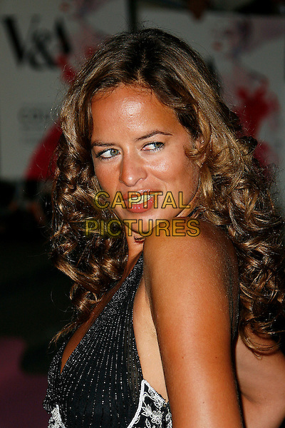 JADE JAGGER.Attending The Golden Age of Couture VIP Gala held at the Victoria and Albert Museum, Kensington, London, England, September 18th 2007.V&A V & A portrait headshot  Over shoulder.CAP/DAR.©Darwin/Capital Pictures