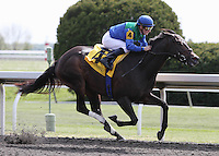 Brilliant Katie and Julien Leparoux win the 6th race.  April 13, 2012.