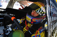 Apr 10, 2008; Avondale, AZ, USA; NASCAR Sprint Cup Series driver Bobby Labonte during practice for the Subway Fresh Fit 500 at Phoenix International Raceway. Mandatory Credit: Mark J. Rebilas-