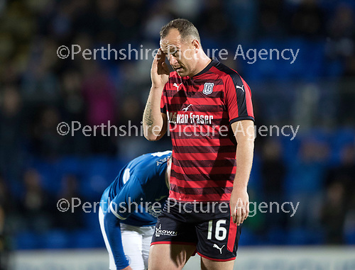 Dave Mackay Testimonial: St Johnstone v Dundee&hellip;06.10.17&hellip;  McDiarmid Park&hellip; <br />Charlie Adam goes off<br />Picture by Graeme Hart. <br />Copyright Perthshire Picture Agency<br />Tel: 01738 623350  Mobile: 07990 594431