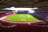 A general view of the Britannia Stadium, home of Stoke City<br /> <br /> Photographer Terry Donnelly/CameraSport<br /> <br /> The Premier League - Stoke City v Liverpool - Saturday 8th April 2017 - bet365 Stadium - Stoke-on-Trent<br /> <br /> World Copyright &copy; 2017 CameraSport. All rights reserved. 43 Linden Ave. Countesthorpe. Leicester. England. LE8 5PG - Tel: +44 (0) 116 277 4147 - admin@camerasport.com - www.camerasport.com