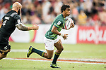 Stedman-Ghee Gans of South Africa runs with the ball during the match South Africa vs New Zealand, Day 2 of the HSBC Singapore Rugby Sevens as part of the World Rugby HSBC World Rugby Sevens Series 2016-17 at the National Stadium on 16 April 2017 in Singapore. Photo by Victor Fraile / Power Sport Images