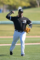 Chicago White Sox pitcher Thyago Vieira (50) during Spring Training Camp on February 25, 2018 at Camelback Ranch in Glendale, Arizona. (Zachary Lucy/Four Seam Images)