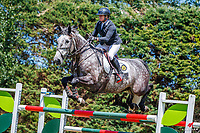NZL-Catherine Cameron rides Charlton Bazaar. Class 22: Outpost Buildings Horse GP Super Series. 2020 NZL-Collinson Forex Premier Show Jumping At Woodhill Sands. Helensville. Sunday 12 January. Copyright Photo: Libby Law Photography