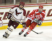 Brendan Cawley (BC - 6), Mark Kasabian (BU - 8) - The Boston College Eagles defeated the visiting Boston University Terriers 6-2 in ACHA play on Sunday, December 4, 2011, at Kelley Rink in Conte Forum in Chestnut Hill, Massachusetts.