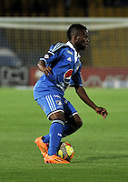 BOGOTA- COLOMBIA -02 -02-2014: Yuber Asprilla, jugador de Millonarios durante partido de la segunda fecha de la Liga Postobon I 2014, jugado en el Nemesio Camacho El Campin de la ciudad de Bogota. / Yuber Asprilla, player of Millonarios during a match for the second date of the Liga Postobon I 2014 at the Nemesio Camacho El Campin Stadium in Bogoto city. Photo: VizzorImage  / Luis Ramirez / Staff