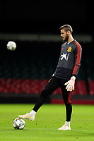 Spain's David De Gea during the pre-International Friendly training session of the Spain squad at the Principality Stadium, Cardiff, UK. Wednesday 10 October 2018