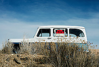 An old truck for sale near the town of Parachute, Colorado, Wednesday, February 21, 2013. Fracking has been a hot topic for the area around the traditionally farming communities of Battlement Mesa and Parachute, Colorado with concerned citizens wanting more studies on potential health issues.<br /> <br /> Photo by Matt Nager