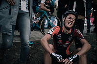 Jens Adams (BEL/Pauwels Sauzen-Vastgoedservice) trying to catch his breath after the finish-line<br /> <br /> Elite Men's race<br /> Koppenbergcross / Belgium 2017