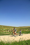 Israel, Coastal Plain, Cycling by Pura Nature Reserve