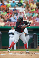 Great Lakes Loons first baseman Justin Chigbogu (29) at bat during a game against the Kane County Cougars on August 13, 2015 at Fifth Third Bank Ballpark in Geneva, Illinois.  Great Lakes defeated Kane County 7-3.  (Mike Janes/Four Seam Images)