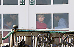16-04-2014 Balcony 74th birthday of the Danish Queen at Marselisborg Castle in Aarhus. <br /> Prince Nikolai and Prince Felix and Prince Henrik and Prince Vincent.<br /> <br /> <br /> Credit: PPE/face to face<br /> - No Rights for Netherlands -