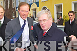 LABOUR: The Labour party leader Eamon Gilmore with north Kerry candidate Arthur Spring on the streets of Tralee on Friday.