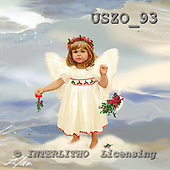 Donald, CHRISTMAS CHILDREN, paintings, Mistletoe Angel, USZO93,#xk#
