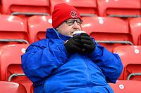 A Fleetwood Town fan looks on<br /> <br /> Photographer Richard Martin-Roberts/CameraSport<br /> <br /> The EFL Sky Bet League One - Saturday 15th December 2018 - Fleetwood Town v Burton Albion - Highbury Stadium - Fleetwood<br /> <br /> World Copyright &not;&copy; 2018 CameraSport. All rights reserved. 43 Linden Ave. Countesthorpe. Leicester. England. LE8 5PG - Tel: +44 (0) 116 277 4147 - admin@camerasport.com - www.camerasport.com