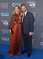 Judd Apatow & Leslie Mann at the 23rd Annual Critics' Choice Awards at Barker Hangar, Santa Monica, USA 11 Jan. 2018<br /> Picture: Paul Smith/Featureflash/SilverHub 0208 004 5359 sales@silverhubmedia.com