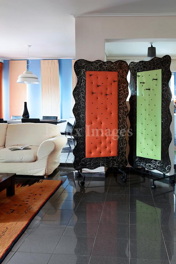 modern colorful room divider
