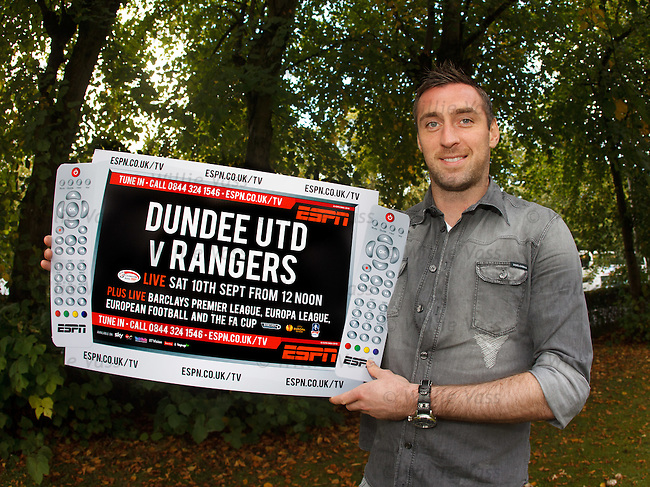 Allan McGregor at Hotel Du Vin, Glasgow as he promotes ESPN's coverage of the Dundee Utd v Rangers match on Saturday
