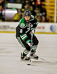 24 October 2015: University of North Dakota Forward Nick Schmaltz, a Sophomore from Verona, WI, in first period action against the University of Vermont Catamounts at Gutterson Fieldhouse in Burlington, Vermont. North Dakota defeated the Catamounts 5-2 in the second game of their weekend series. Mandatory Credit: Ed Wolfstein Photo *** RAW (NEF) Image File Available ***