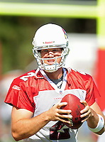 Jul 30, 2008; Flagstaff, AZ, USA; Arizona Cardinals quarterback (2) Brian St. Pierre during training camp on the campus of Northern Arizona University. Mandatory Credit: Mark J. Rebilas-