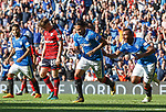Carlos Pena celebrates his goal