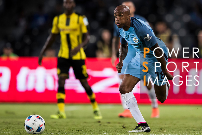 Manchester City midfielder Fabian Delph during the match against Borussia Dortmund at the 2016 International Champions Cup China match at the Shenzhen Stadium on 28 July 2016 in Shenzhen, China. Photo by Victor Fraile / Power Sport Images